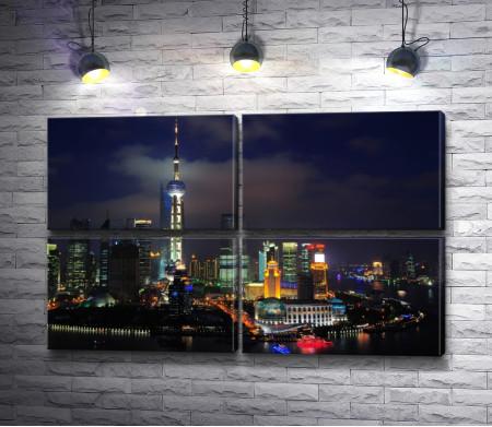 Город полный ночных огней - Шанхай