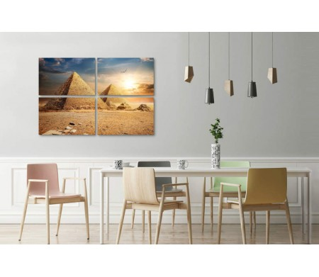 Египетские пирамиды на закате. Гиза