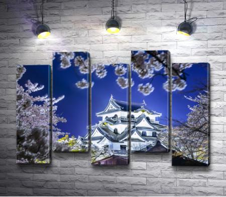 Японский дом внутри цветов