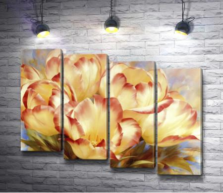 Тюльпан с красными кончиками