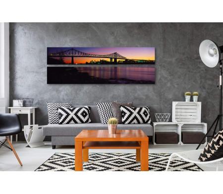 Панорамный мост на закате