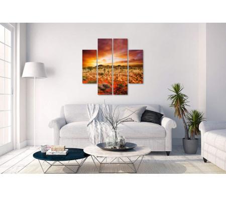 Рассвет возле Ката-Тьюта в Австралии