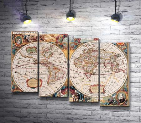 Историческая карта в винтажном стиле