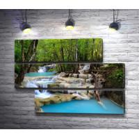 Каскадные водопады в Таиланде