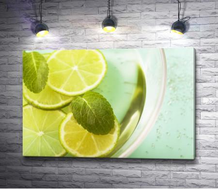 Лимонный коктейль с мятой