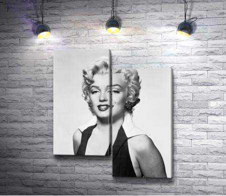 Черно-белый портрет Мэрилин Монро