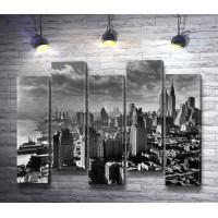 Черно-белый Нью-Йорк. Панорама