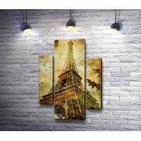 Знаменитая Эйфелева башня, Париж, Винтаж