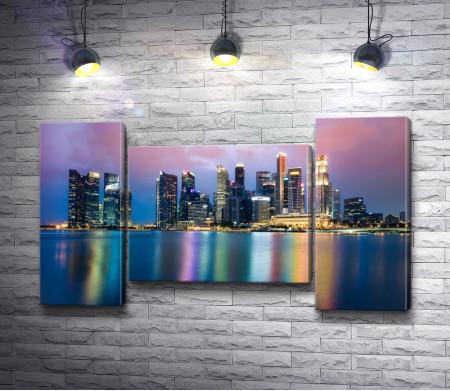 Яркие огни ночного мегаполиса, Сингапур