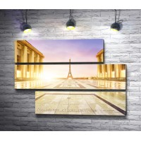 Дорога к Эйфелевой башне. Париж, Франция