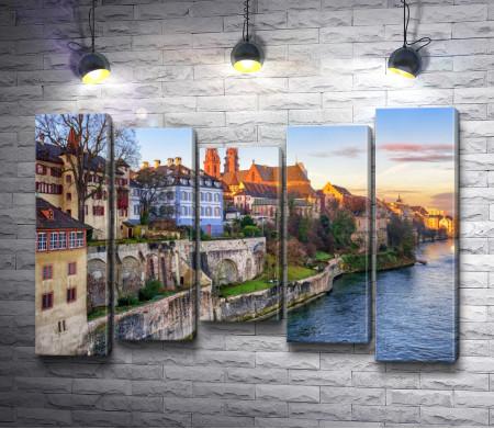 Вид на старый город Базель, Швейцария