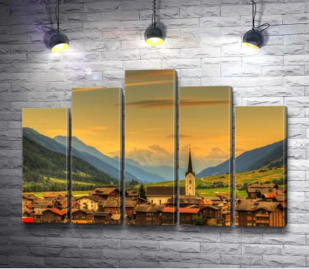 Фантастический вид на город Ульрихен, Швейцария