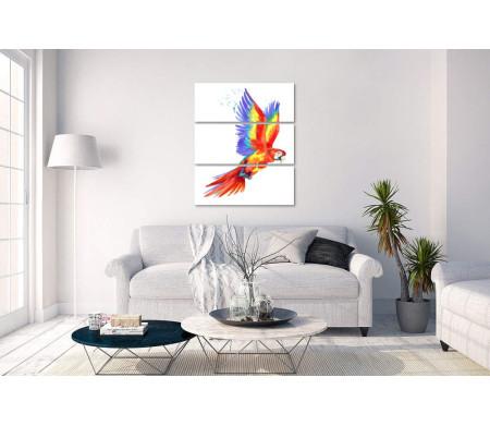 Попугай Ара с расправленными крыльями