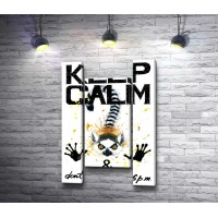 """Постер """"Сохраняй спокойствие и не ешь после 6"""" с лемуром"""