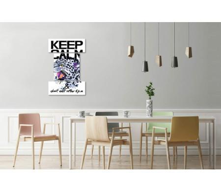 """Мотивационный постер """"Не ешь после шести"""" с гепардом"""