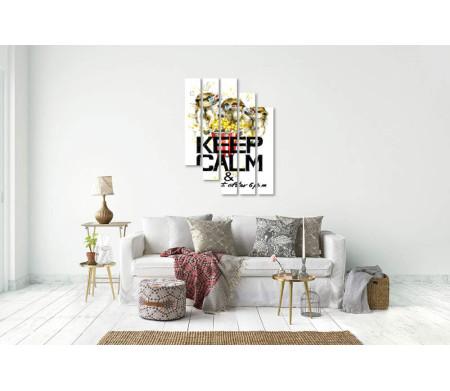 """Мотивационный постер """"Не ешь после шести"""" с опоссумами, едящими попкорн"""