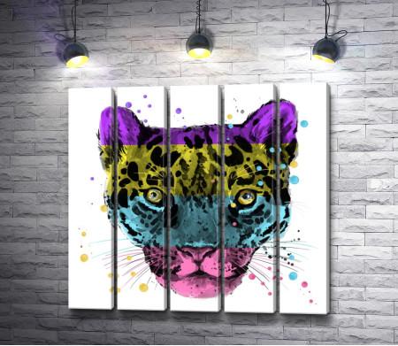Тигр в кислотных цветах