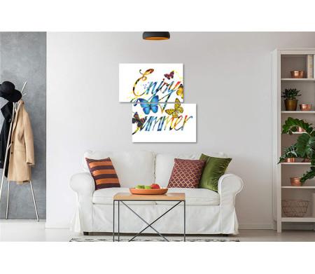 """Постер с фразой """"Enjoy Summer"""" и бабочками"""