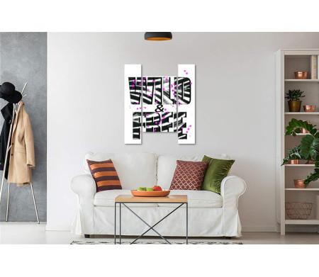 """Постер с черно-белой надписью """"Be WILD & FREE"""""""