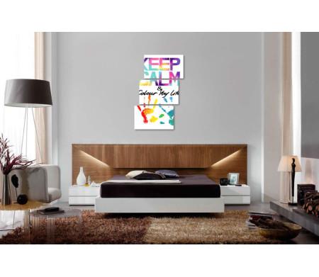 """Яркий постер """"Keep Calm & colour life"""" с разноцветными отпечатками ладошек"""