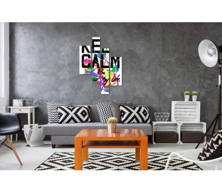 """Мотивационный постер """"Keep Calm & colour life"""" с отпечатками ладошек"""
