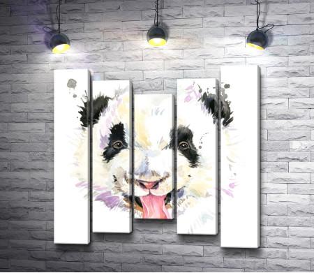 Панда с выставленным языком