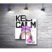 """Постер """"Keep Calm & kiss me"""" с изображением йоркширского терьера"""