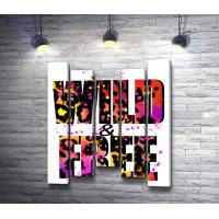 """Постер """"Be WILD & FREE"""" в леопардовой окраске"""