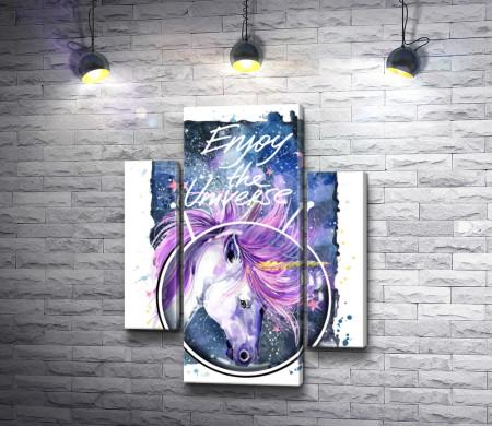 Звездный единорог: Enjoy the universe. Плакат