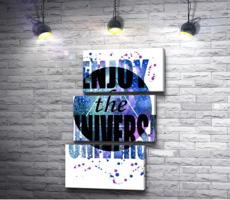 Планета и Enjoy the universe. Плакат