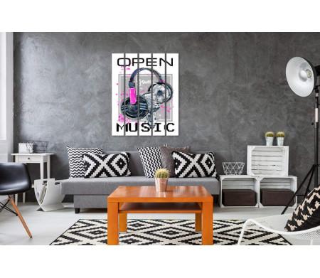 """Стильный микрофон и """"Open your music"""""""