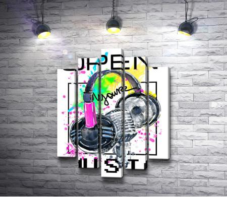 "Наушники и микрофон: ""Open your music"""