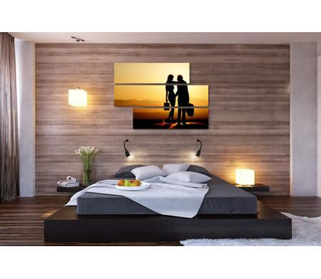 Мужчина и женщина. Романтика заката