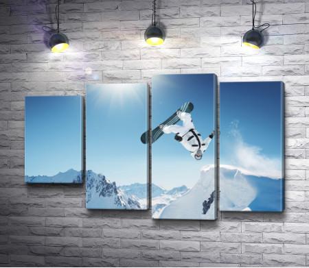 Финты на сноуборде в горах