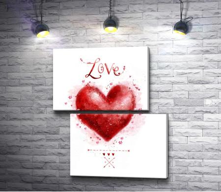 Красное сердце любви