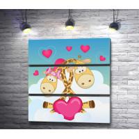Два влюбленных жирафа