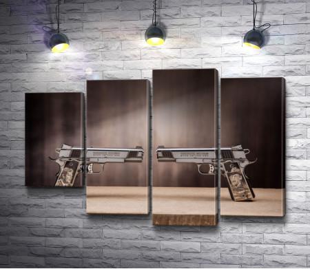 Пистолеты направленные друг на друга