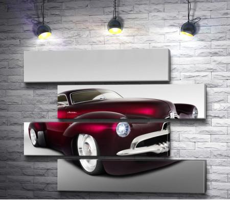 Ретро машина цвета бордовый металлик