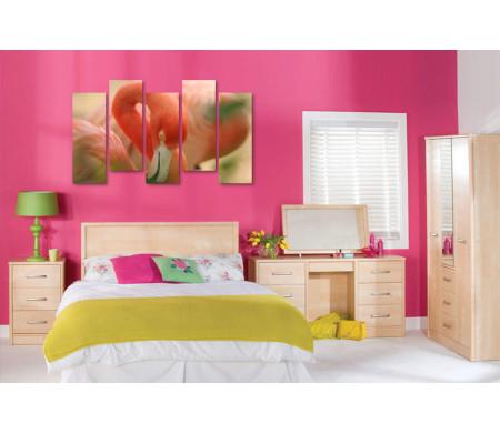 Розовый фламинго в макросъемке