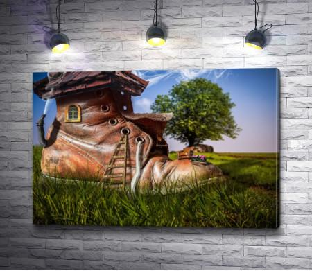 Дом в форме ботинка