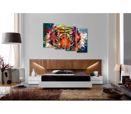Красочный тигр