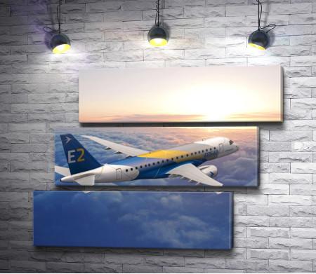 Пассажирский самолет семейства Embraer E-Jet E2