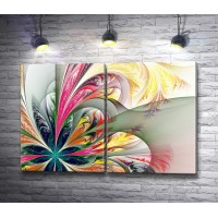Радужный абстрактный цветок