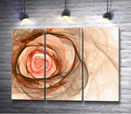 Роза в персиковых тонах