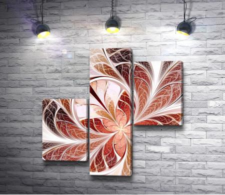 Янтарные абстрактные листочки