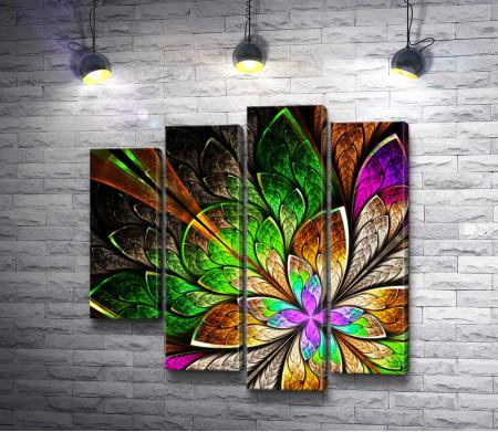 Цветные абстрактные листочки