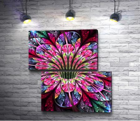 Цветок с красочными листочками