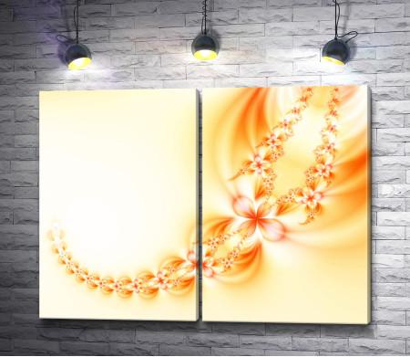 Золотая цепь из цветов