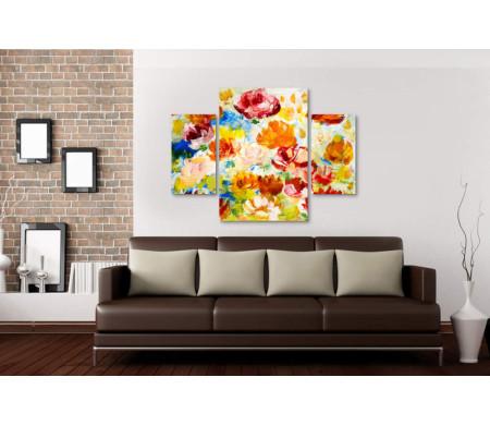 Цветы нарисованные красками