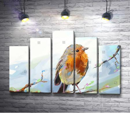 Зимняя птица - снегирь